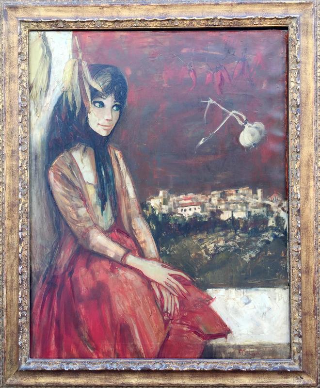 Jean-Baptiste VALADIÉ - Painting - Jeune fille devant la fenetre