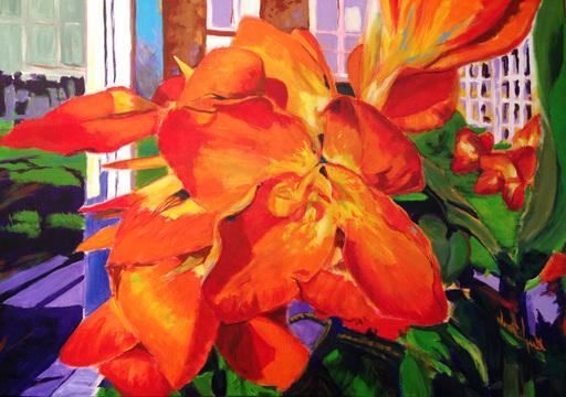 Guylaine MALO - Peinture - Orange Freedom
