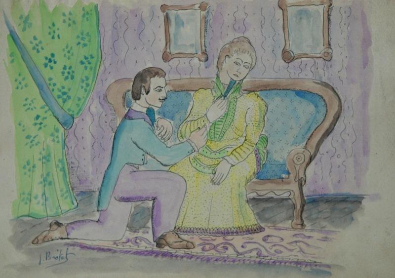 Joan BROTAT VILANOVA - Drawing-Watercolor - Declaracion