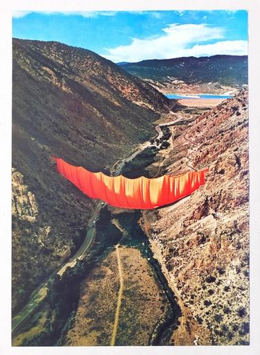 CHRISTO - Druckgrafik-Multiple - Valley curtain, Rifle - Colorado 4-4