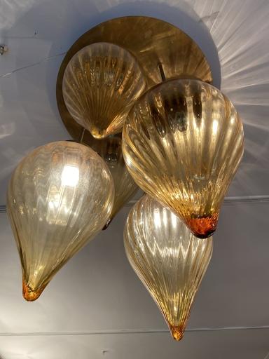 Paolo VENINI - Lustre boules en verre de Murano