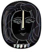 Pablo PICASSO - Céramique - Visage au collier