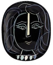 巴勃罗•毕加索 - 陶瓷  - Visage au collier