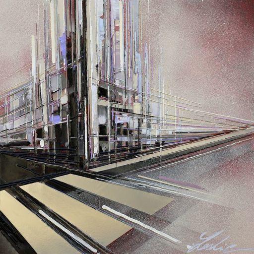 Leslie BERTHET LAVAL - Peinture - Urban city XXXIV