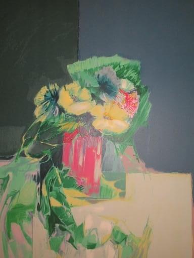 Claude HEMERET - Print-Multiple - Le bouquet de fleurs,1985.