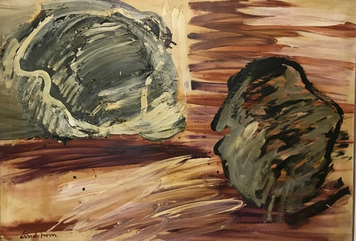 Bengt LINDSTRÖM - Painting - Reflet d'une forme
