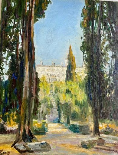 Rudolf LEVY - Gemälde - Parkansicht Tivoli-Villa DÉste