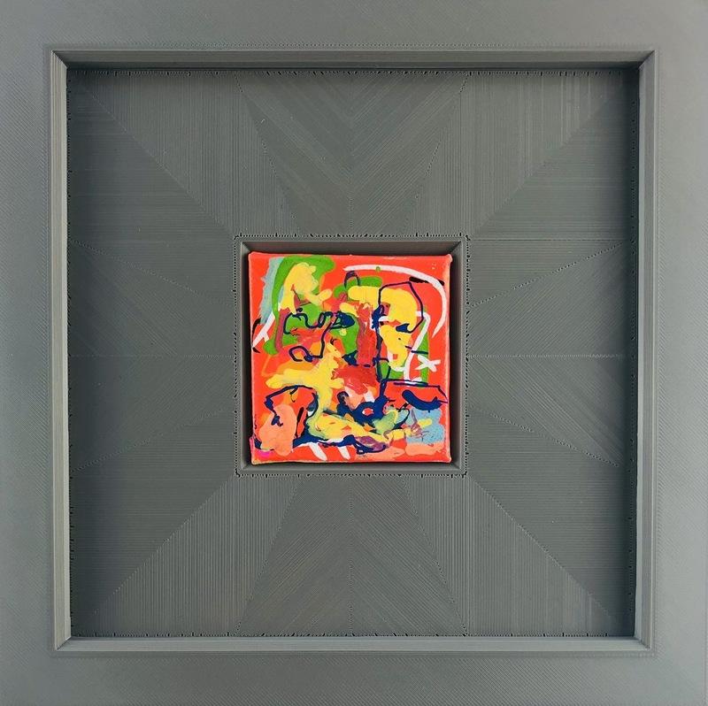 Nicole LEIDENFROST - Gemälde - Gedanken in orange