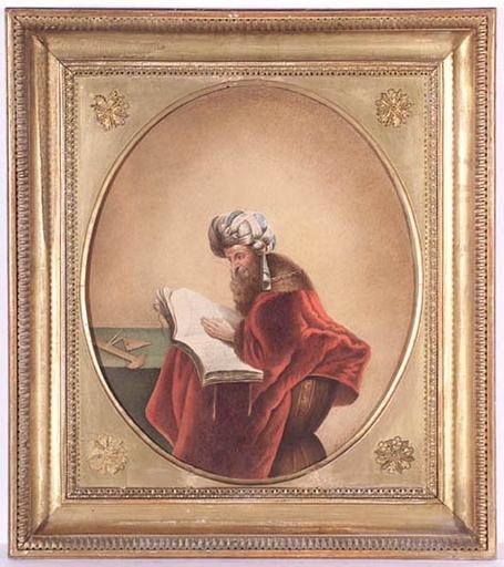 "Michael STOHL - Dibujo Acuarela - ""Archimedes"", 1837, Watercolor"