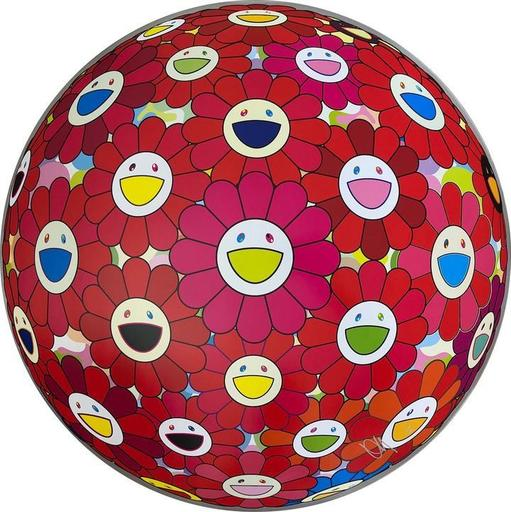 Takashi MURAKAMI - Estampe-Multiple - Thinking Matter (Red)