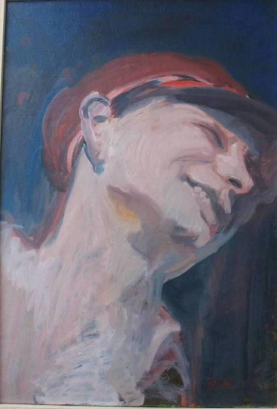 Géza SZÓBEL - 绘画 - Autoportrait