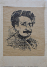 马克斯•利伯曼 - 版画 - Portrait Albert Einstein