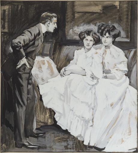 Ferdinand VON REZNICEK - Drawing-Watercolor - Unnötige Aufreizung