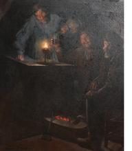 Luis GRANER ARRUFI - Pintura - Interior con brasero