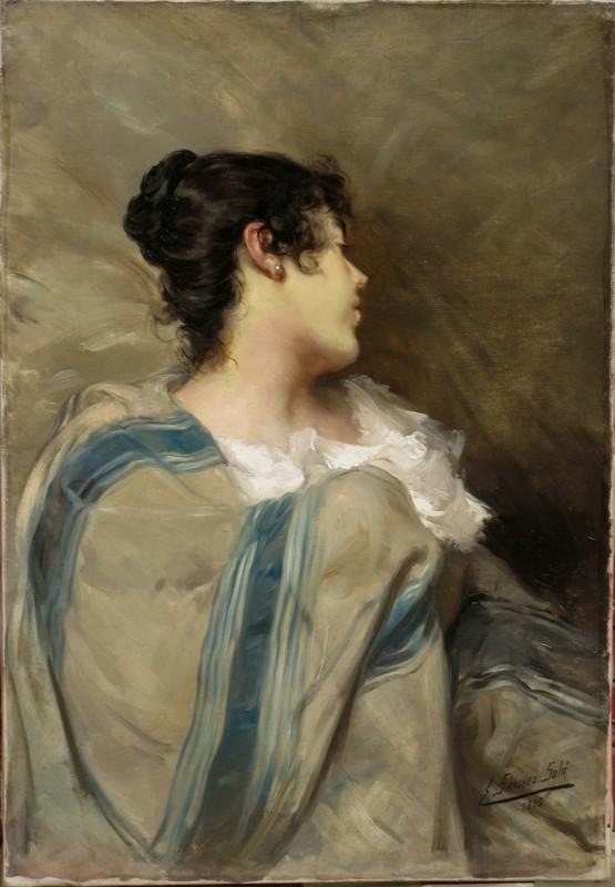 Eduardo SÁNCHEZ SOLÁ - Peinture - L'ESPAGNOLE A LA PERLE