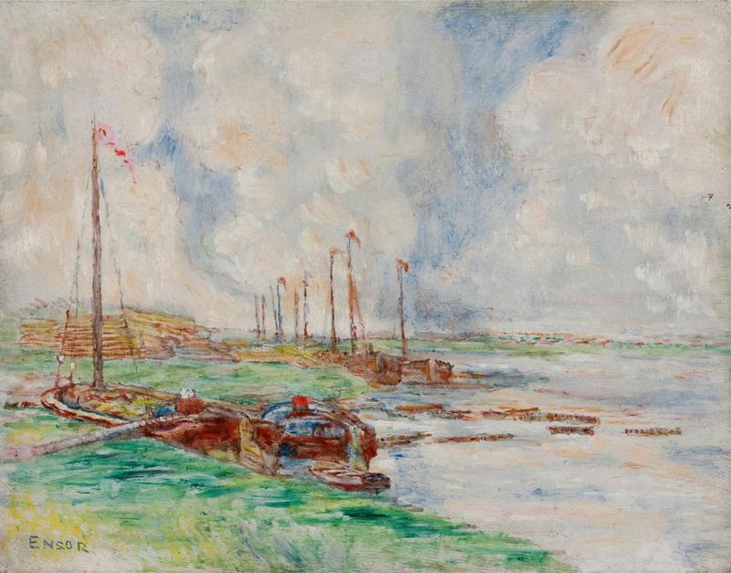 James ENSOR - Peinture - Ostende, Canal