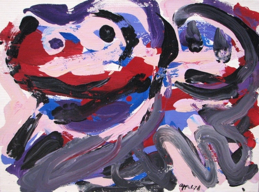 Karel APPEL - Painting - The Happy Battle