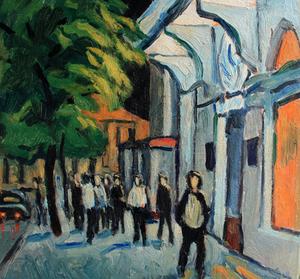 Valeriy NESTEROV - Pintura - Cityscape. Leningrad