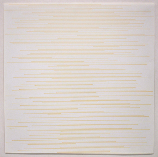 Sol LEWITT - Dessin-Aquarelle - Straight parallel lines of random length not touching sides