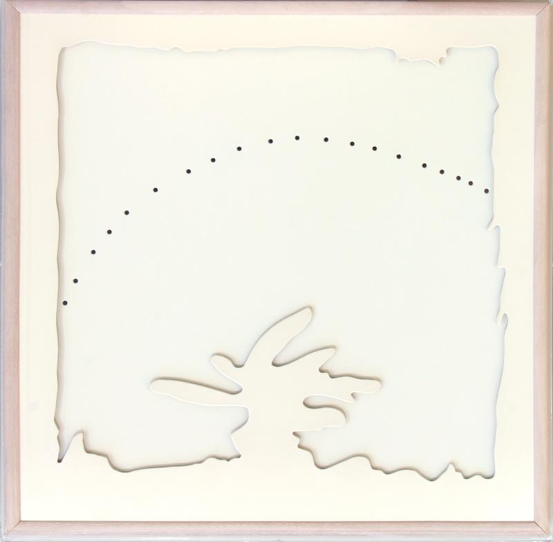 Lucio FONTANA - Gemälde - CONCETTO SPAZIALE TEATRINO BIANCO