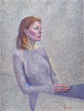 Catherine COCHY DE MONCAN - Pintura - Le Modèle