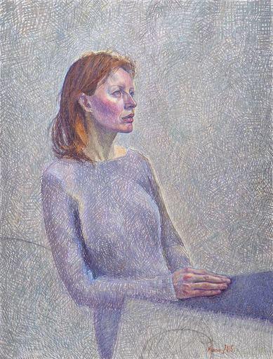 Catherine COCHY DE MONCAN - Peinture - Le Modèle