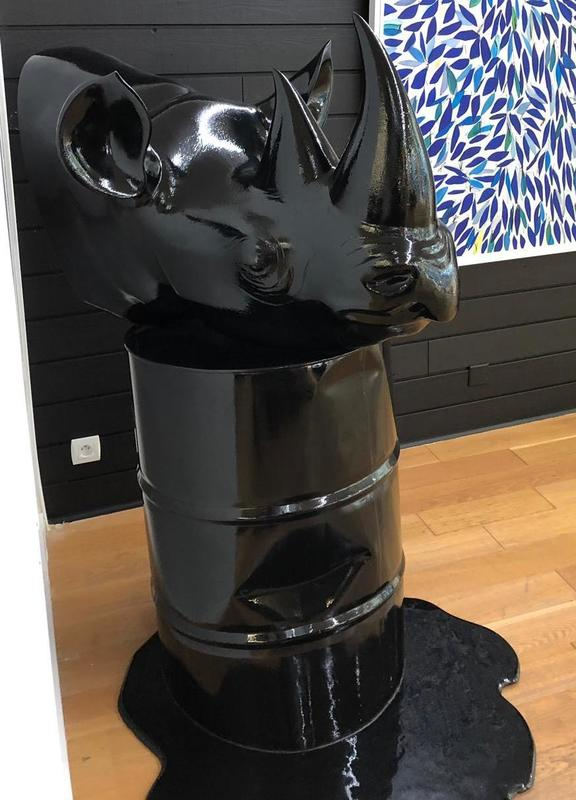 Yannick COHONNER - Escultura - Pétrole rhino