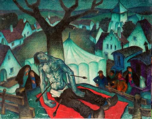 "Raymond DIERICKX - Drawing-Watercolor - ""SAINT SEBASTIEN"""