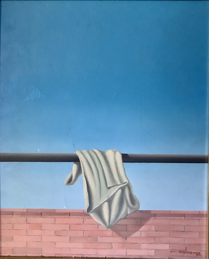 Javier ESCALONA - Painting - Roupa estendida