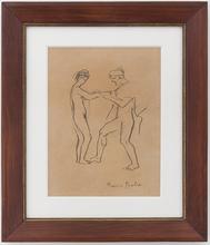 弗朗西斯·毕卡比亚 - 水彩作品 - Sculpteur et son modele