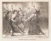 Honoré DAUMIER - Peinture - Two Lithographs, middle 19th Century