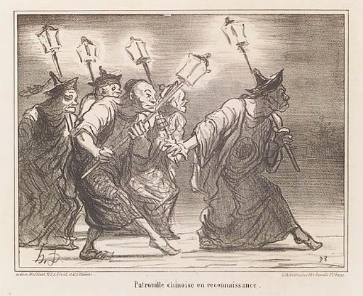 奥诺雷•杜米埃 - 绘画 - Two Lithographs, middle 19th Century