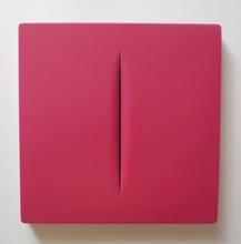 Lucio FONTANA - Sculpture-Volume - Concetto Spaziale Rosso