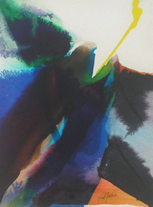 Paul JENKINS - Drawing-Watercolor - Phenomena Sound of the Saw