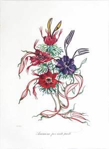 Salvador DALI - Print-Multiple - Anemone per Antipasti