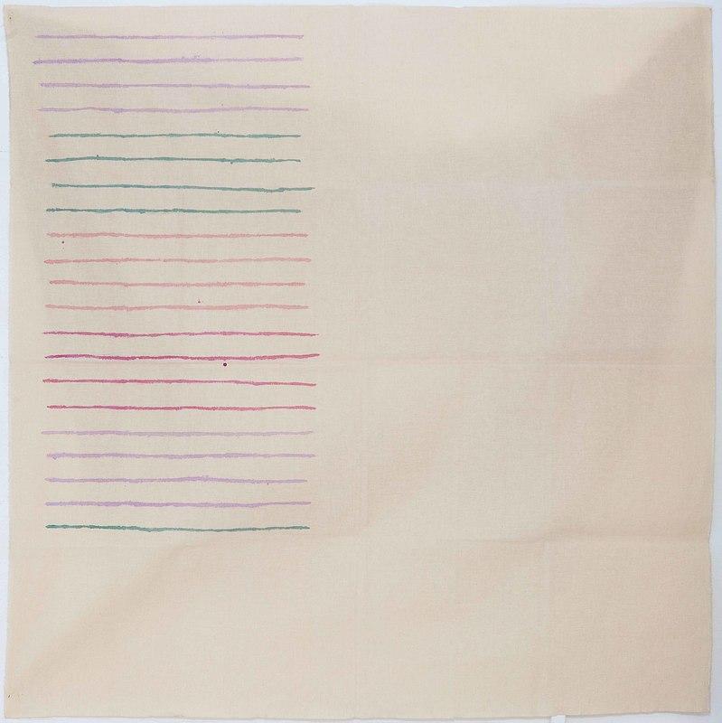 Giorgio GRIFFA - Painting - LINEE ORIZZONTALI