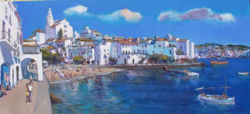 Josep MOSCARDO - Painting - Estiu a Cadaqués