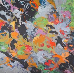 Christa SCHMID-EHRLINGER - Pittura - 01 78 CSE Auf Blau Nr 2