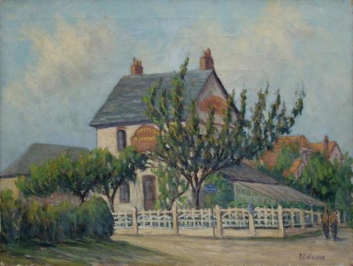 Edouard DELAUNE - 绘画 - La maison Lanfant à Garges (?)