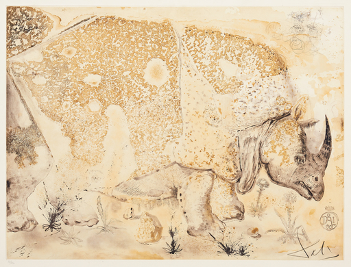 Salvador DALI - Print-Multiple - Rhinocéros