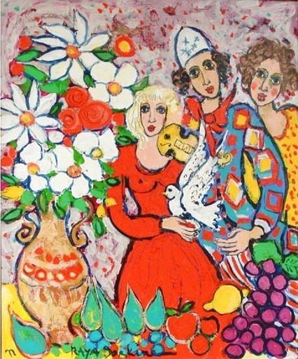 RAYA - Pintura - La Petite Colombe en Visite