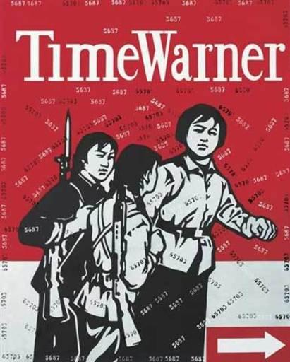 WANG Guangyi - Peinture - Great criticism: Time Warner