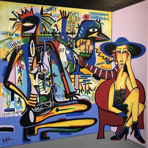 ZAFI - Pittura - Dos au mur