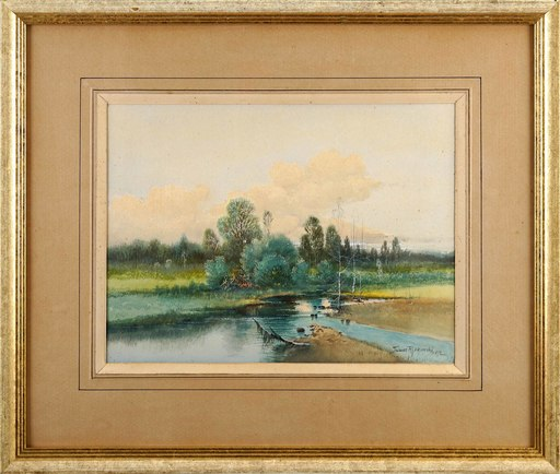 Tadeusz RYBKOVSKI - Zeichnung Aquarell - Landscape