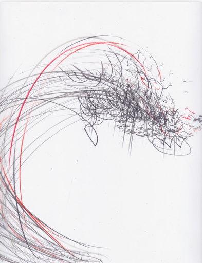 Jaanika PEERNA - Drawing-Watercolor - Screech of ice series 42