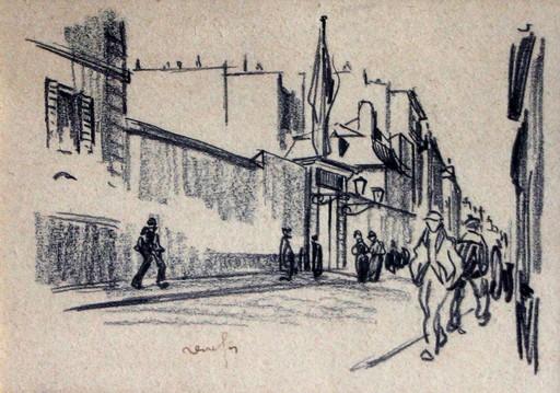 Raymond RENEFER - Drawing-Watercolor - Paysage urbain