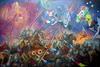 Alexander SAVKO - Gemälde - WAR FOR THE UNDEFINED: Purple Horror