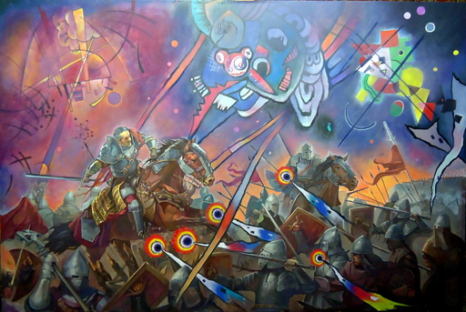 Alexander SAVKO - Pintura - WAR FOR THE UNDEFINED: Purple Horror