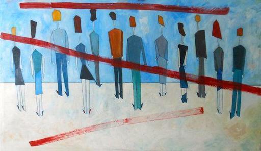 Abraham DAYAN - Peinture - Les Innocents de la Ville Lumière