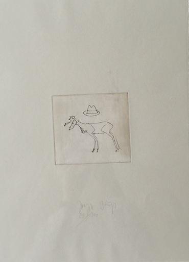 Joseph BEUYS - Print-Multiple - Hirsch und hut
